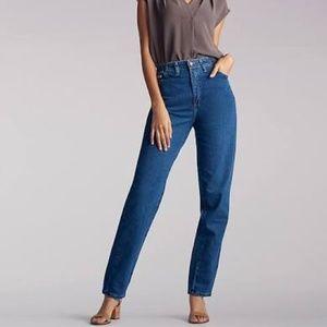 Vintage Lee High Rise Dark Denim Mom Jeans